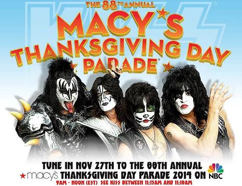 11/27/14 88th Annual Macy's Thanksgiving Day Parade, NYC, NY (/w/ Kiss)