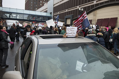 Driver of a car stuck in the protest march joins Million March Minnesota
