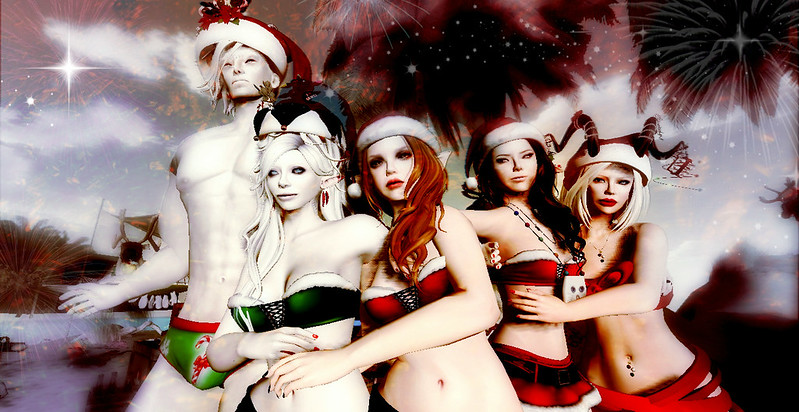 Christmas Card - Santa and the sexy elves