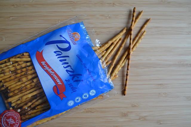 Germany gluten-free pretzel taste test_ Polish Balviten Paluszki z solą salty sticks salzstangen