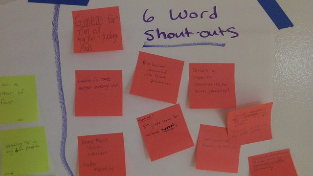 Six Word Shoutouts
