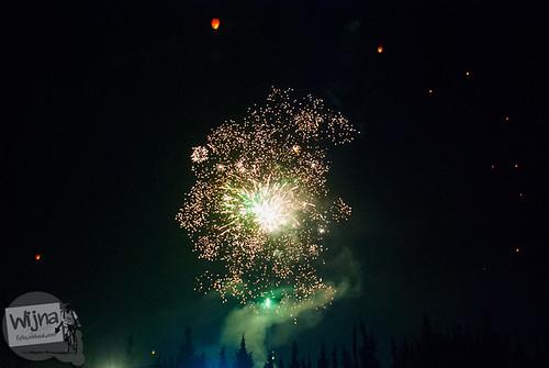 Pentas kembang api di Dieng Culture Festival 2014