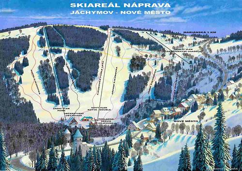 Jáchymov - Náprava - mapa sjezdovek