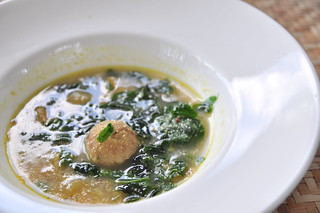 Cambodian Kor Kor Soup with Meatball