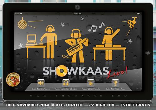 Showkaas live! Flyer Front