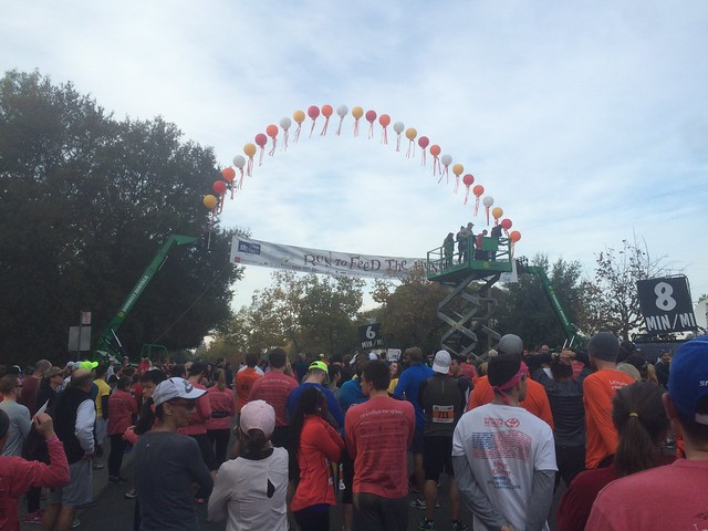 At the start of the 2014 Run to Feed the Hungry #RTFTH