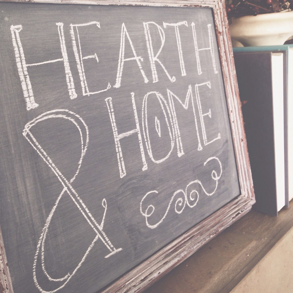 Hearth & Home chalkboard | personallyandrea.com