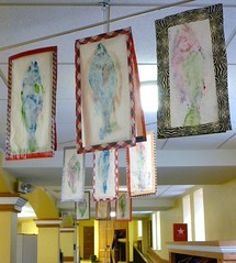 Fish prints hanging up in the Social Hall