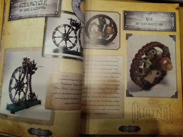 W8b on Steampunk LEGO book