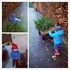 #PhotoGrid met Pieke de kerstboom halen