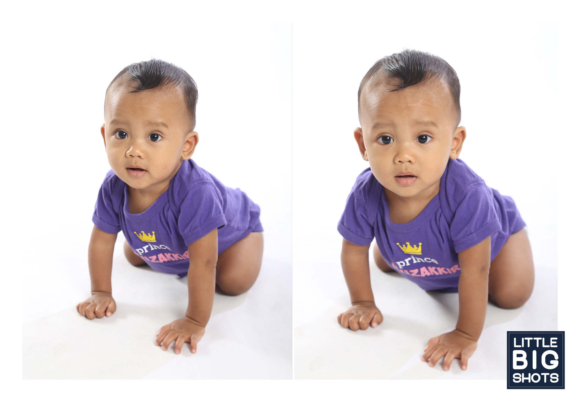 Muzakkirulquwaydir at 6 mths | Toddler Studio Portraiture