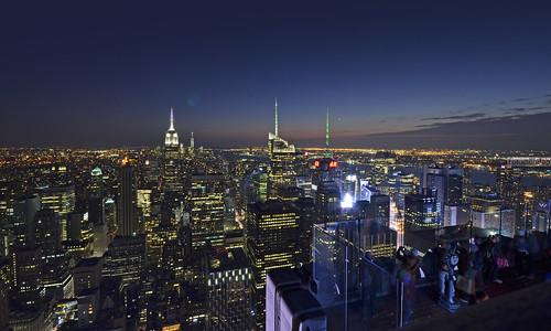 nyc sunset usa newyork lights luces nikon manhattan amanecer bluehour topoftherock nuevayork eeuu sigma1020mm horaazul nikond7000