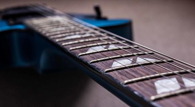 Photo:Strings of a guitar By Catface27