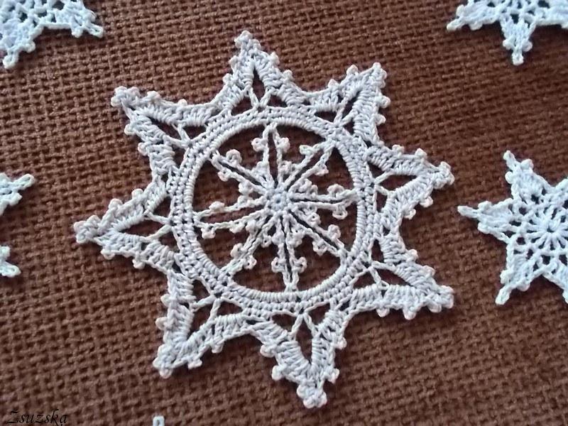 crochet, snowflake, horgolás, hópehely (2)