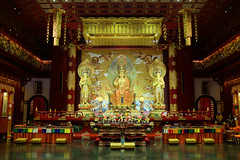 Maitreya Trinity in the Hundred Dragons Hall, Buddha Tooth Relic Temple