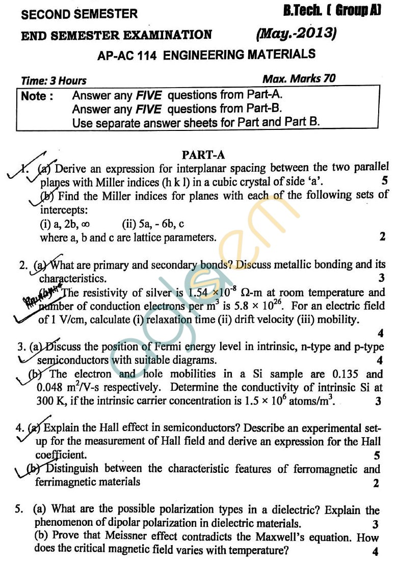 DTU: Question Papers 2013 – 2 Semester - End Sem - AP-AC 114
