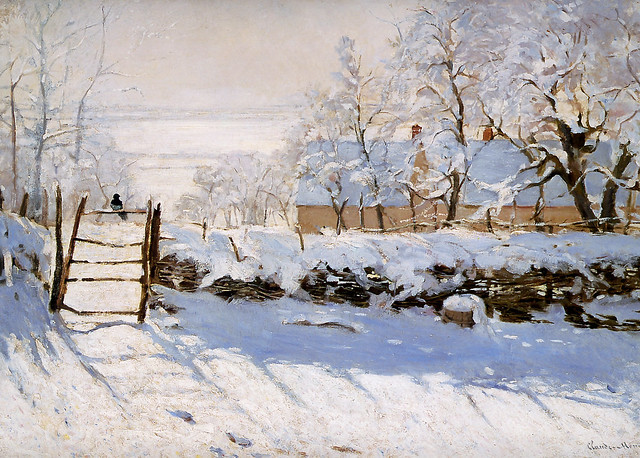 The Magpie by Claude Monet, 1869