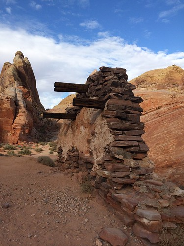Remains of a movie set along the White Domes Trail, Valley of Fire