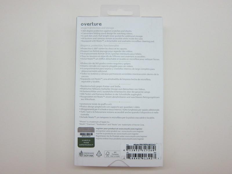 Moshi Overture (iPhone 6 Plus) - Box Back