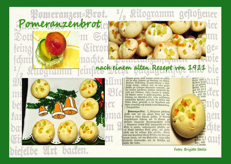 Backblog Pomeranzenbrot Pomeranzenbrötchen altes Rezept nachbacken historisches Backen 1911 Rezept Foto Brigitte Stolle