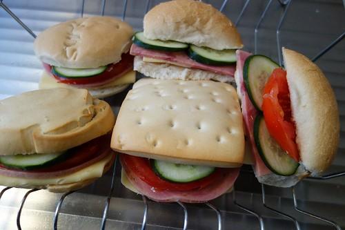 昼食用サンドイッチ