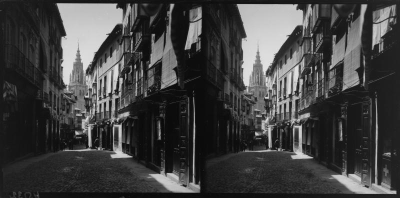 Calle Comercio hacia 1900. Fotografía de Alois Beer © Österreichische Nationalbibliothek
