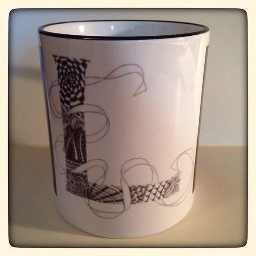 "Tangled ""L"" Mug from Zazzle"