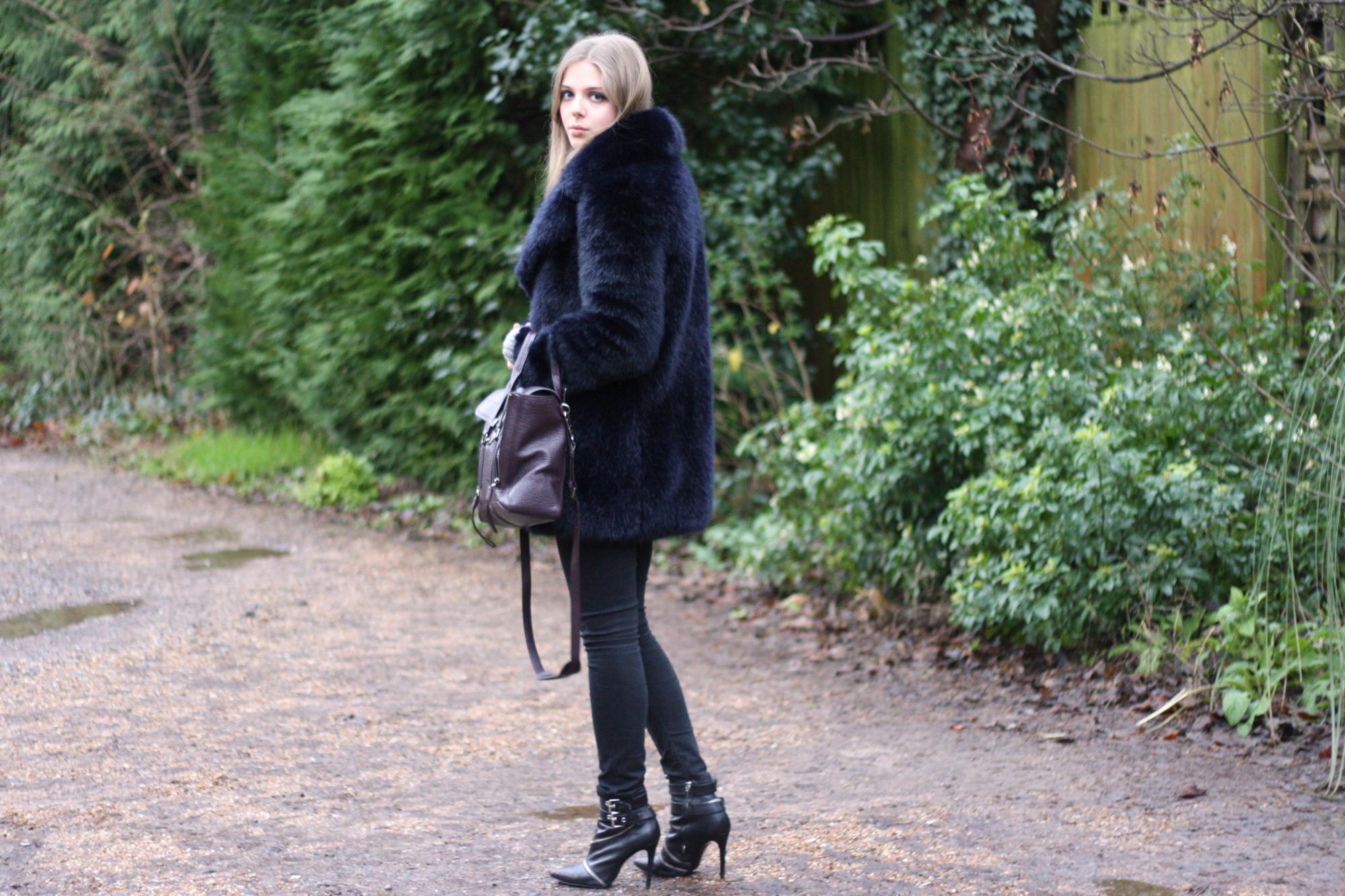 Zara black zip ankle boots