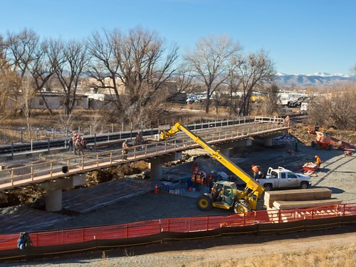 Photo of Ralston Creek bridge construction