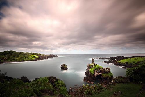 ocean longexposure sea usa color water canon landscape hawaii lava coast maui roadtohana t3i waianapanapastatepark 600d gsamie guillaumesamie
