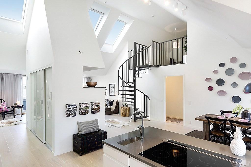 Duplex con escaleras de caracol ba2 proyectos for Escaleras de duplex