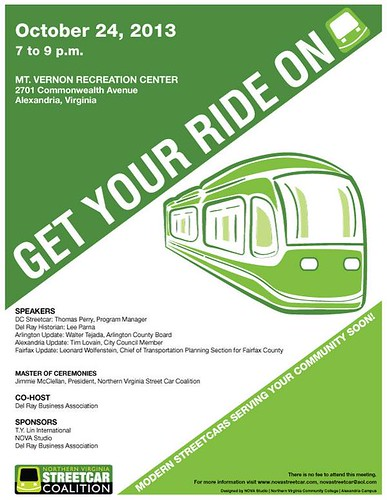 Northern Virginia Streetcar Coalition, promotional flyer