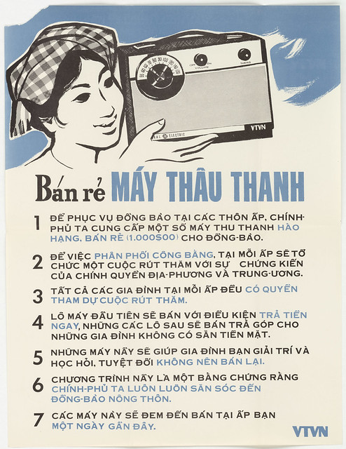 1964 Poster: Bán rẻ MÁY THU THANH -  Low Price Sale of Radio (25-8-1964)
