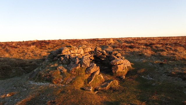 Shelter near Birch Tor