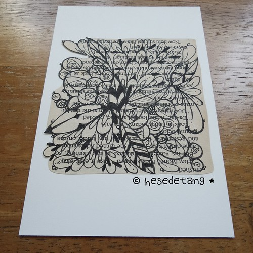 Zentangle Inspired Art Postcard