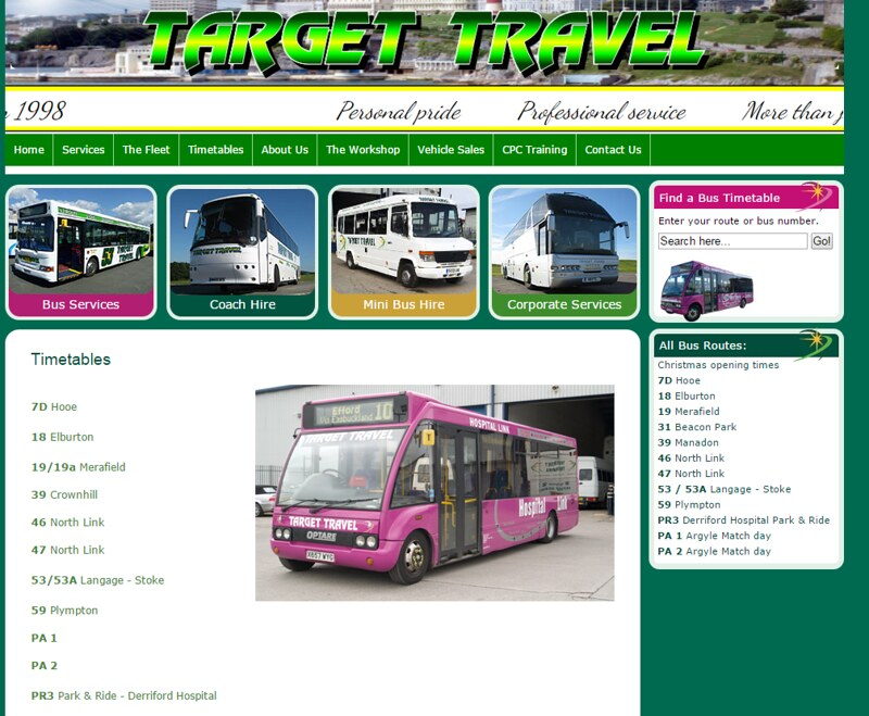 Timetables   Target Travel