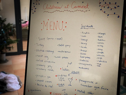 Our ambitious Christmas menu