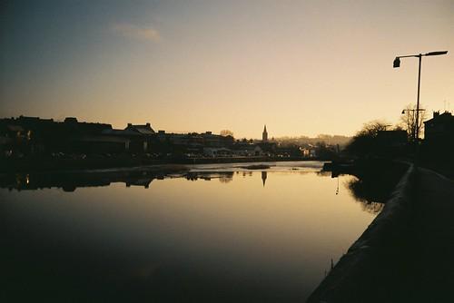 reflection film river dawn lomo lca december zenit dumfries 2014 c41 nith agfaphoto agfaphotovistaplus200