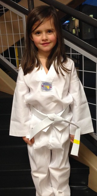 this little cutie started taekwondo yesterday