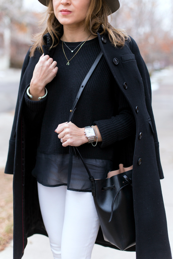 Black + white + simple jewels