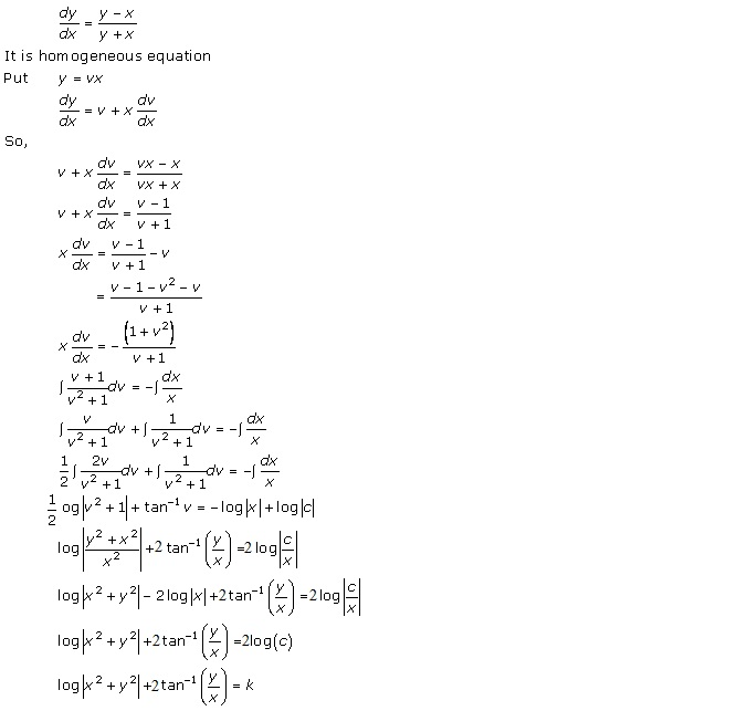 RD Sharma Class 12 Solutions Chapter 22 Differential Equations Ex 22.9 Q2