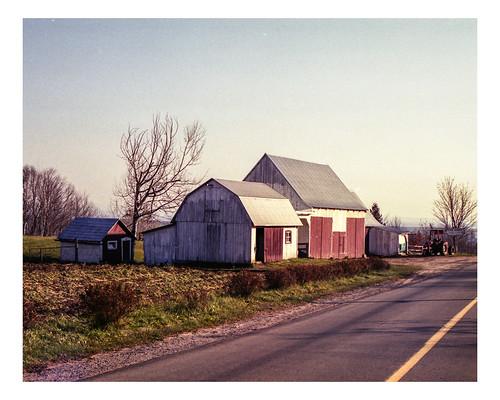 autumn film analog rural landscapes farm fuji200 châteauricher