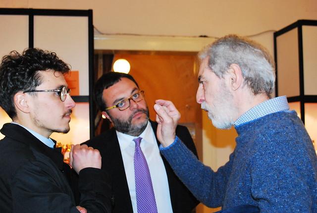 Il maestro Pippo Moresca parla con Giuseppe Dilorenzo