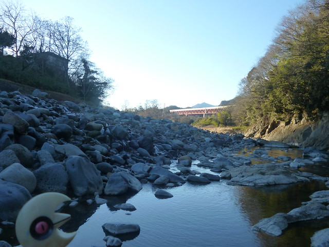 Photo:Lunatone in Otsuki, Yamanashi 4 (Saruhashi bridge) By Kasadera