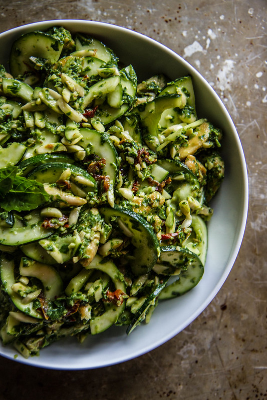 Chicken Zucchini Pesto Salad