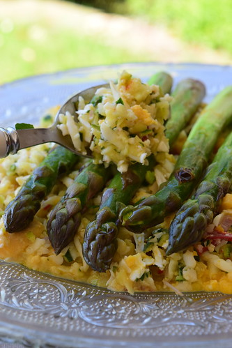 asperges grillées et crumble de légume1