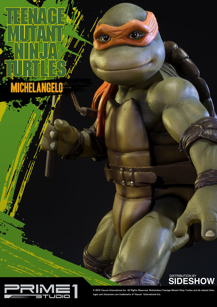 Prime 1 Studio 1990 忍者龜【米開朗基羅】TMNT Michelangelo 1/4 比例全身雕像