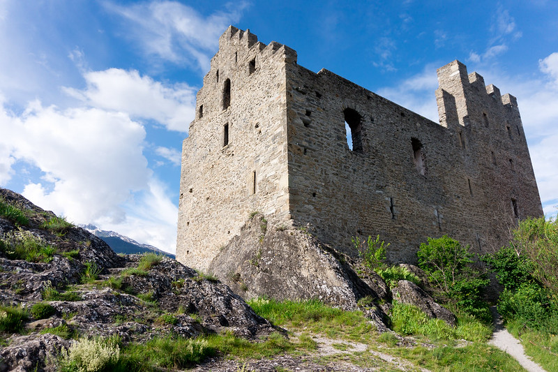 Tourbillon Castle ruins