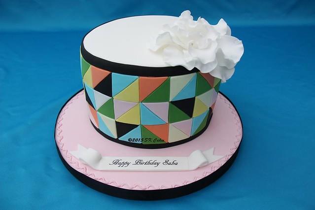 Modern Geometric Cake by Shushma Leidig of SK Cakes