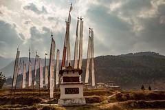 Stupa and prayer flags adorn the Himalayan valley near the city of Thimpu, Bhutan • • • • • #travel #bhutan #buddhist #artofvisuals #athomeintheworld #awesome_earthpix #awesome_photographers #awesomeearth #awesomeglobe #TLPicks #bestplacestogo #discovergl